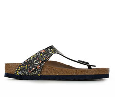Adults' Birkenstock Gizeh Leather Footbed Sandals