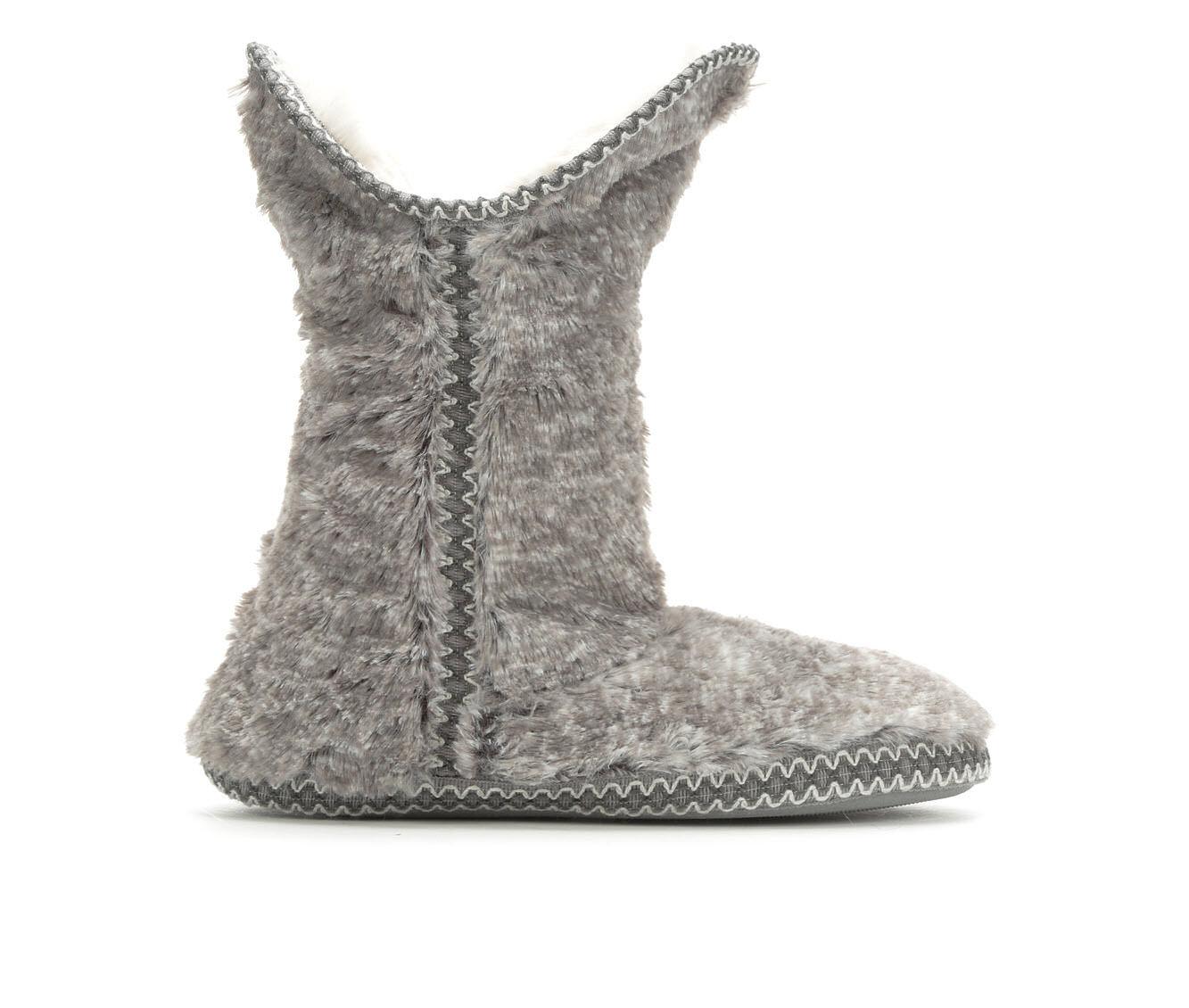 Dearfoams Pile Fold Down Boot Grey Frost