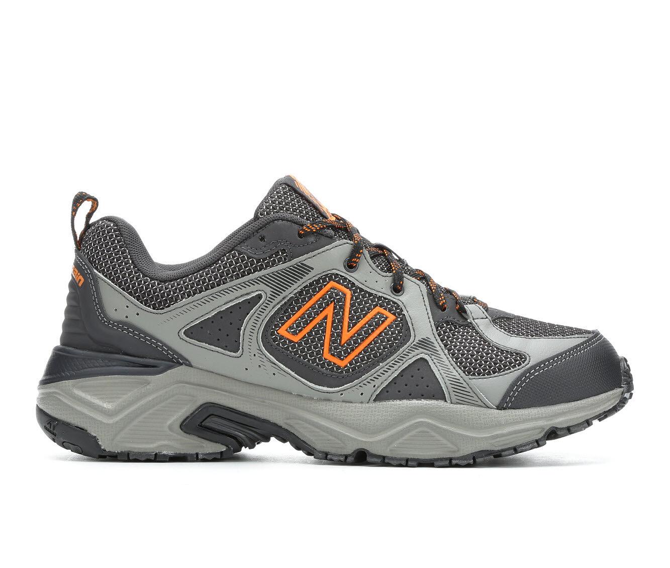 Men's New Balance MT481 Trail Running Shoes Grey/Blk/Org