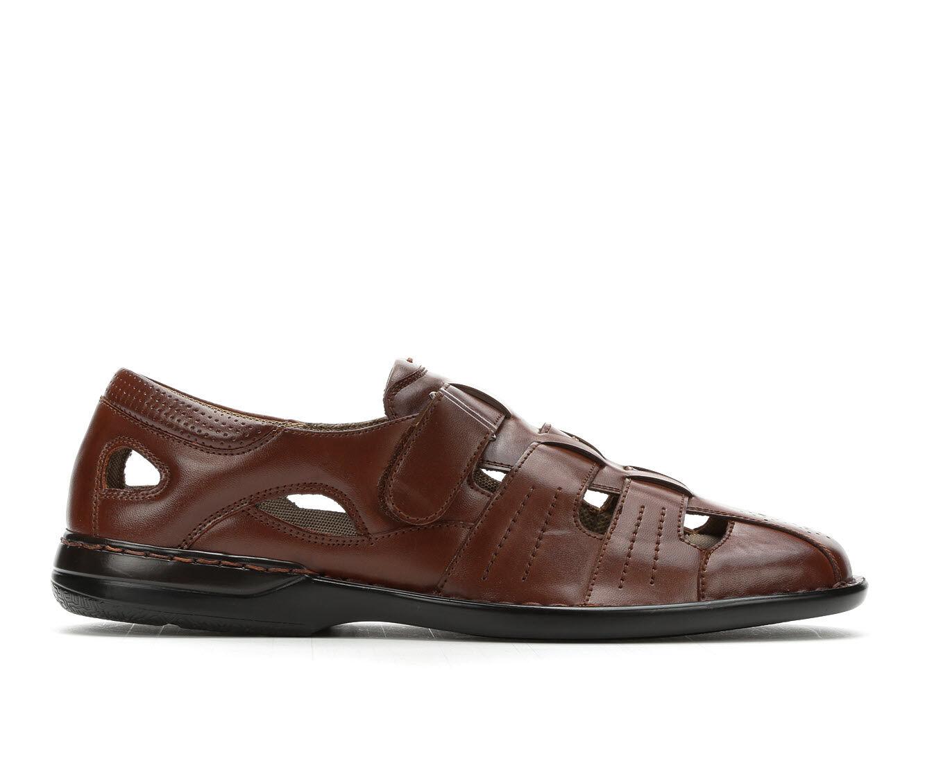 Refined Men's Stacy Adams Argosy Sandals Cognac