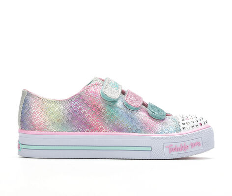 Girls' Skechers Shuffles Ms Mermaid 10/-4 Light-Up Sneakers