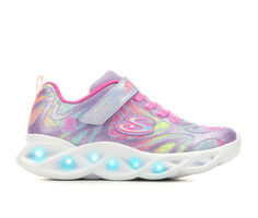 Girls' Skechers Little Kid & Big Kid Twisty Brights Dazzle Flash Light-Up Shoes
