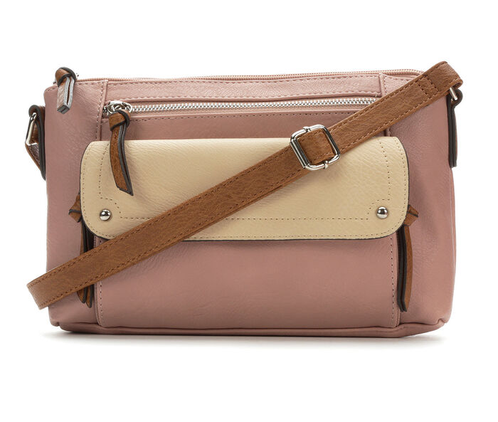 Bueno Of California Tri Tone Crossbody Handbag