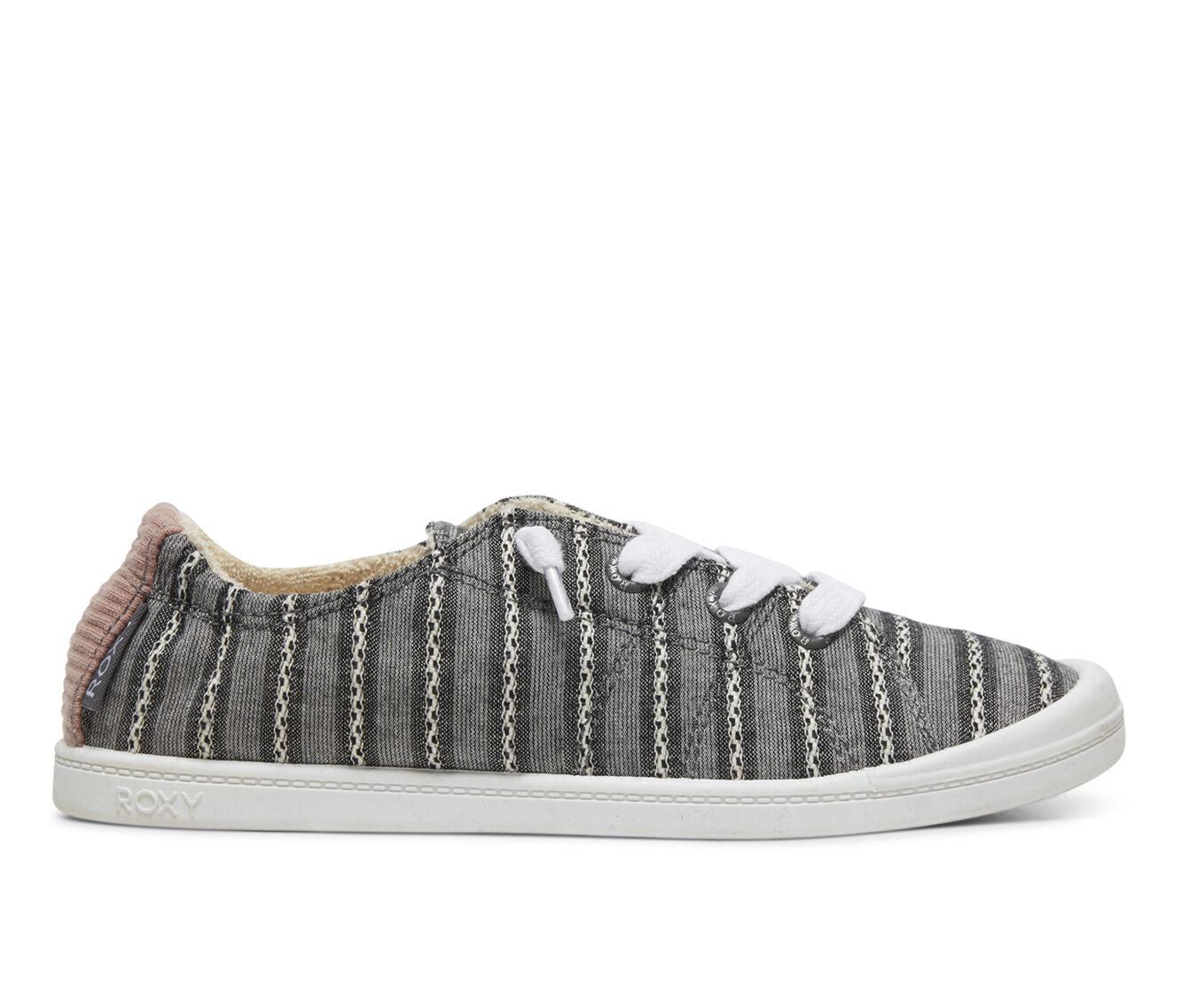 Buying New Women's Roxy Bayshore Sneakers Black Stripe