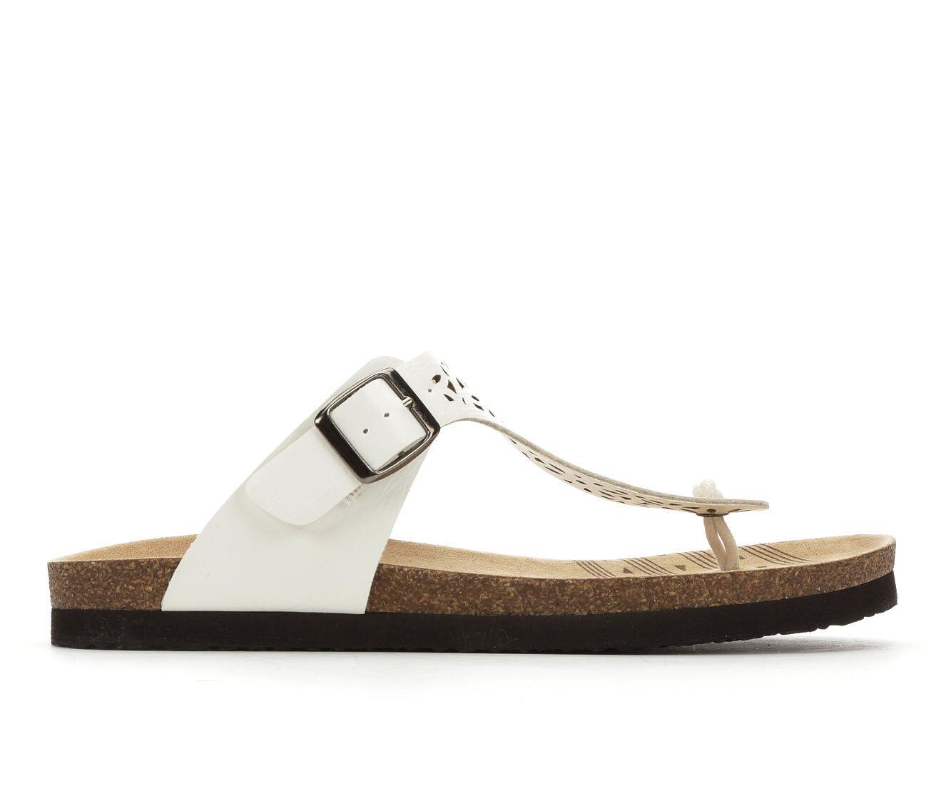 Women's Makalu Brie Footbed Sandals White