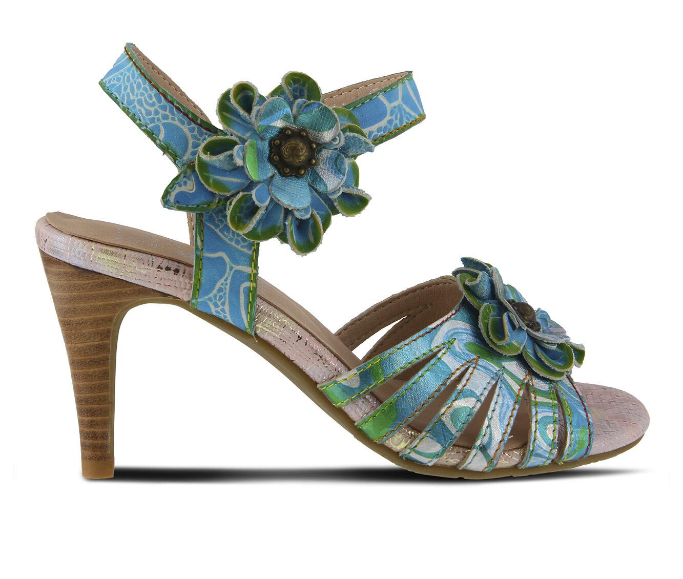 Women's L'ARTISTE Keiko Dress Sandals Turquoise Multi