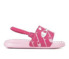 Girls' Champion Shoe Infant & Toddler Super Slide Repeat Script Sandals