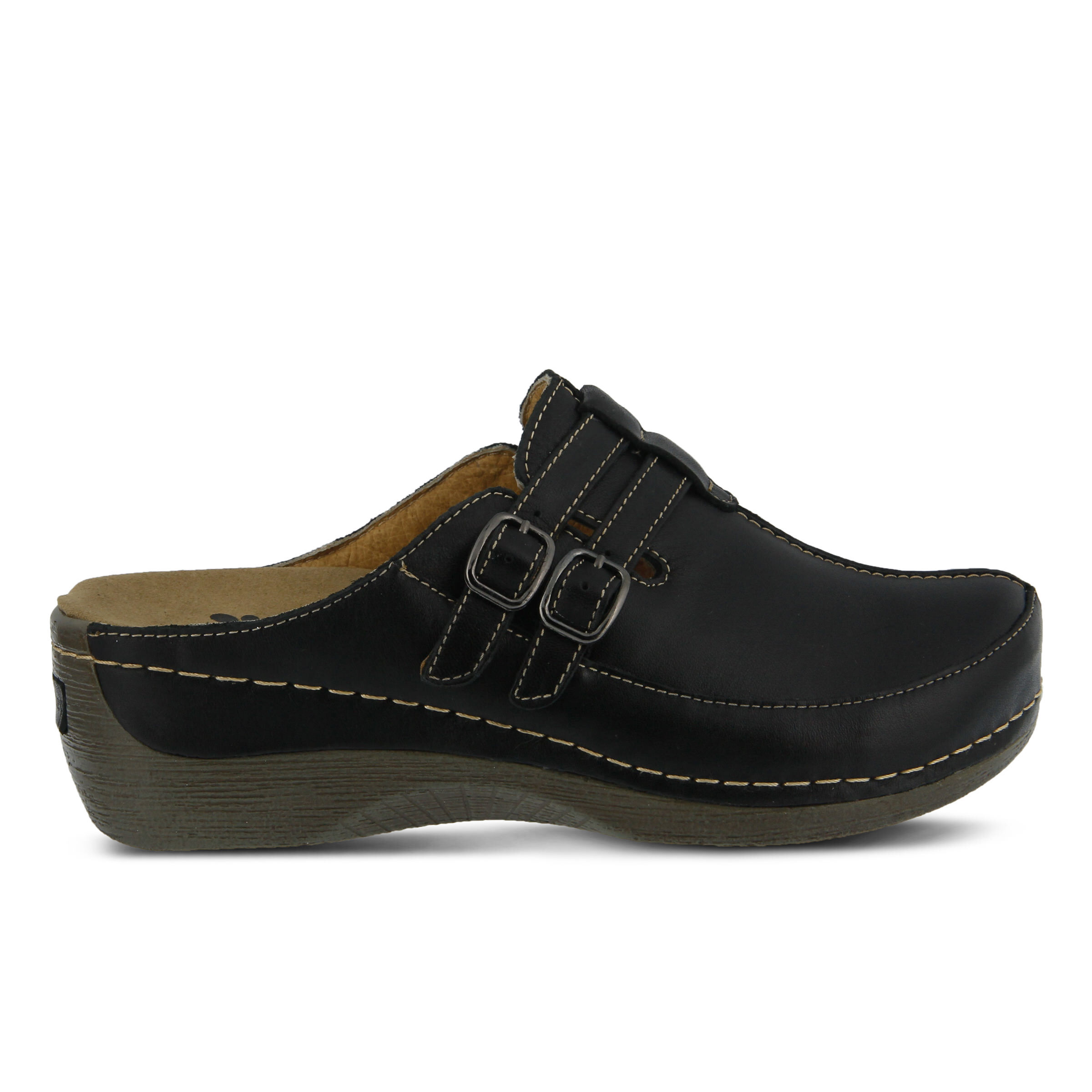 Women's SPRING STEP Happy Clogs Black