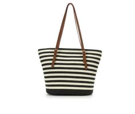 Bueno Of California Papered Straw Tote Handbag
