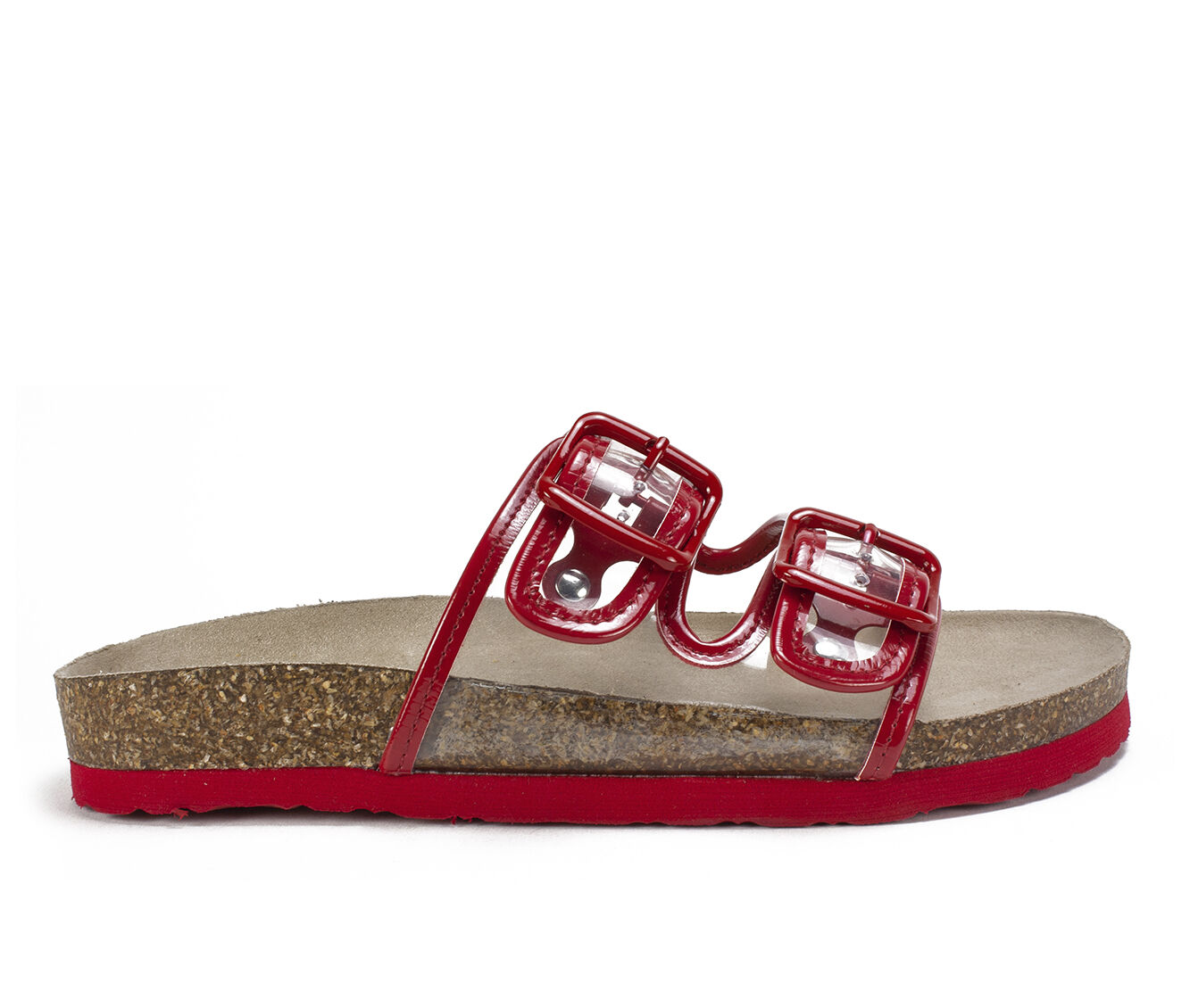 Women's White Mountain Hilda Footbed Sandals Red