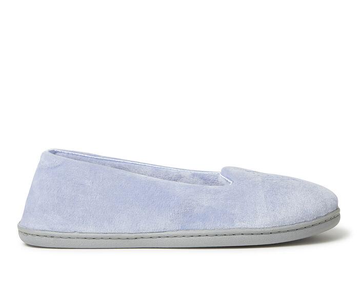 Dearfoams Rebecca Velour Closed Back w/ Embroidery Slippers