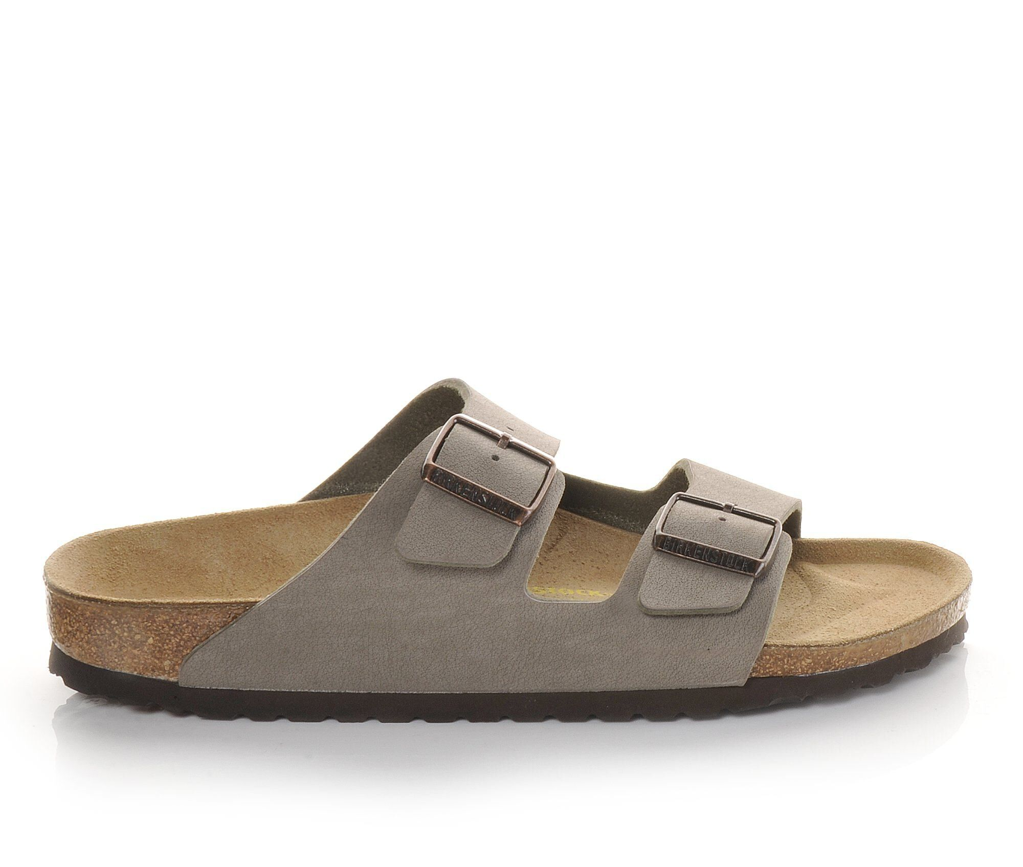 Men's Birkenstock Arizona 2 Buckle Outdoor Sandals Stone