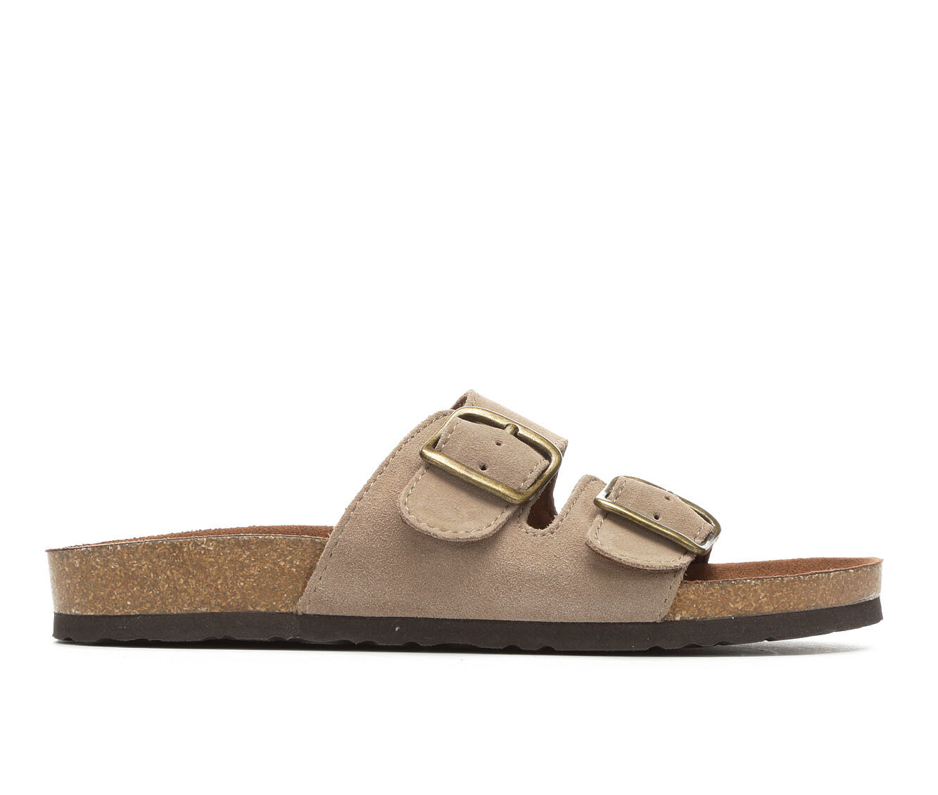 offer original Women's White Mountain Helga Footbed Sandals Lt. Taupe Suede