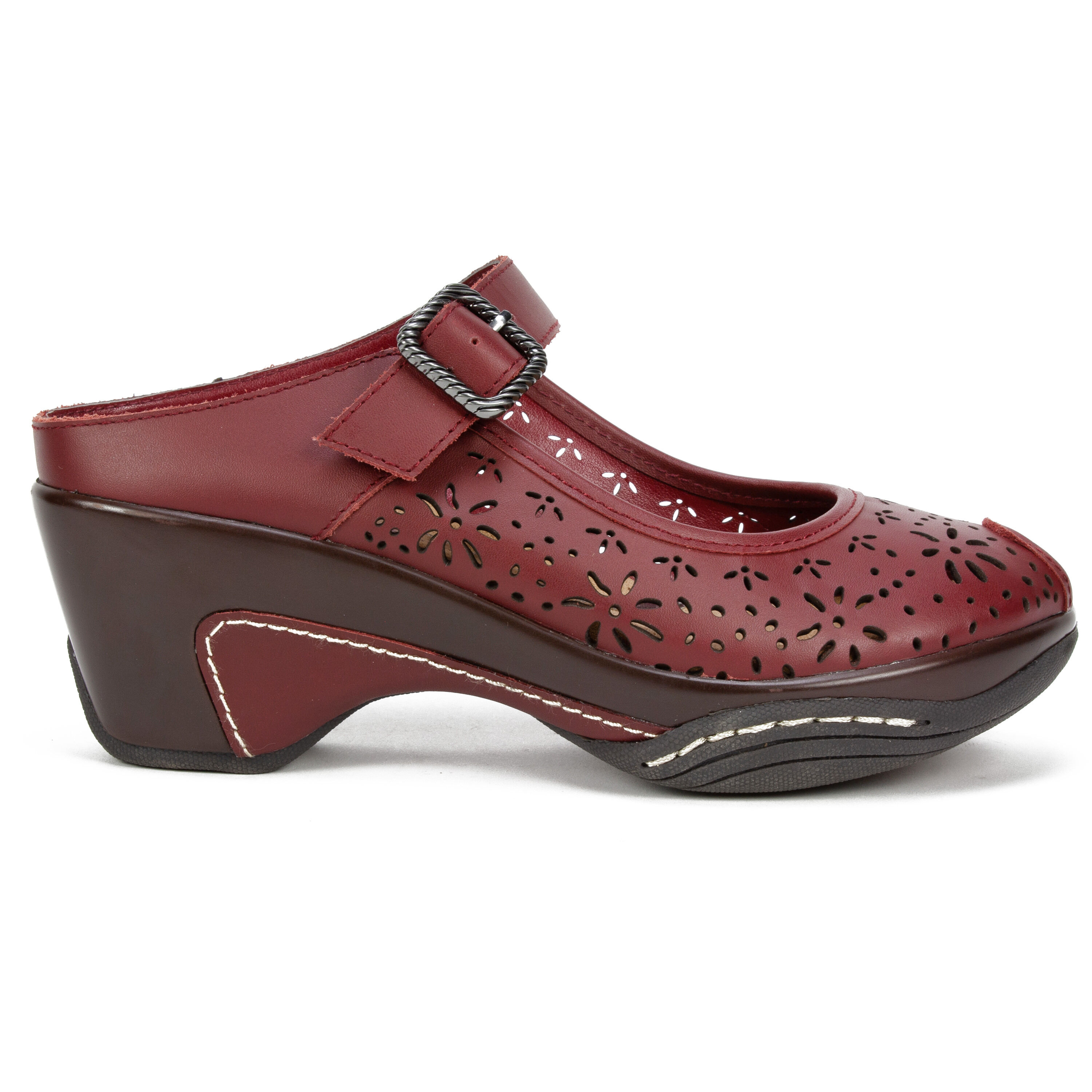 Women's White Mountain Miso Mules Burgundy