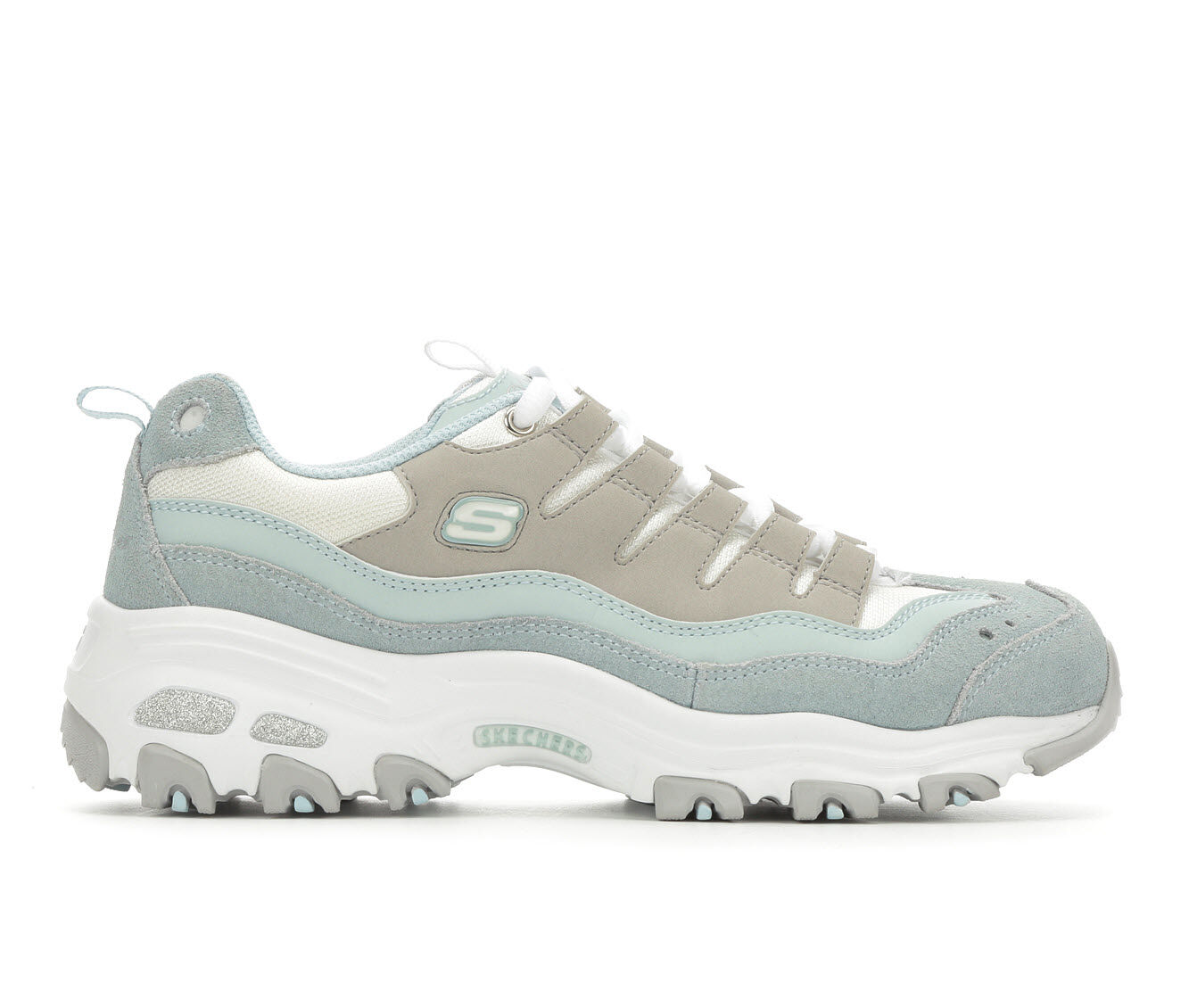 Women's Skechers D'Lites Sure Thing 13141 Sneakers Blue/Grey/Wht