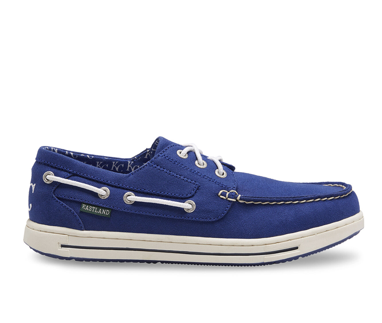 Outlet UK Men's Eastland Adventure MLB Royals Boat Shoes Blue