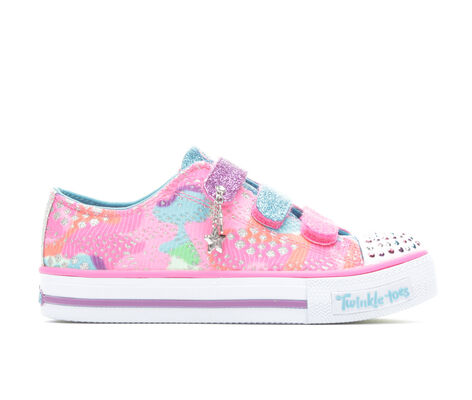 Girls' Skechers Shuffles Lookin' Lovely 10.5-4 Light-Up Sneakers