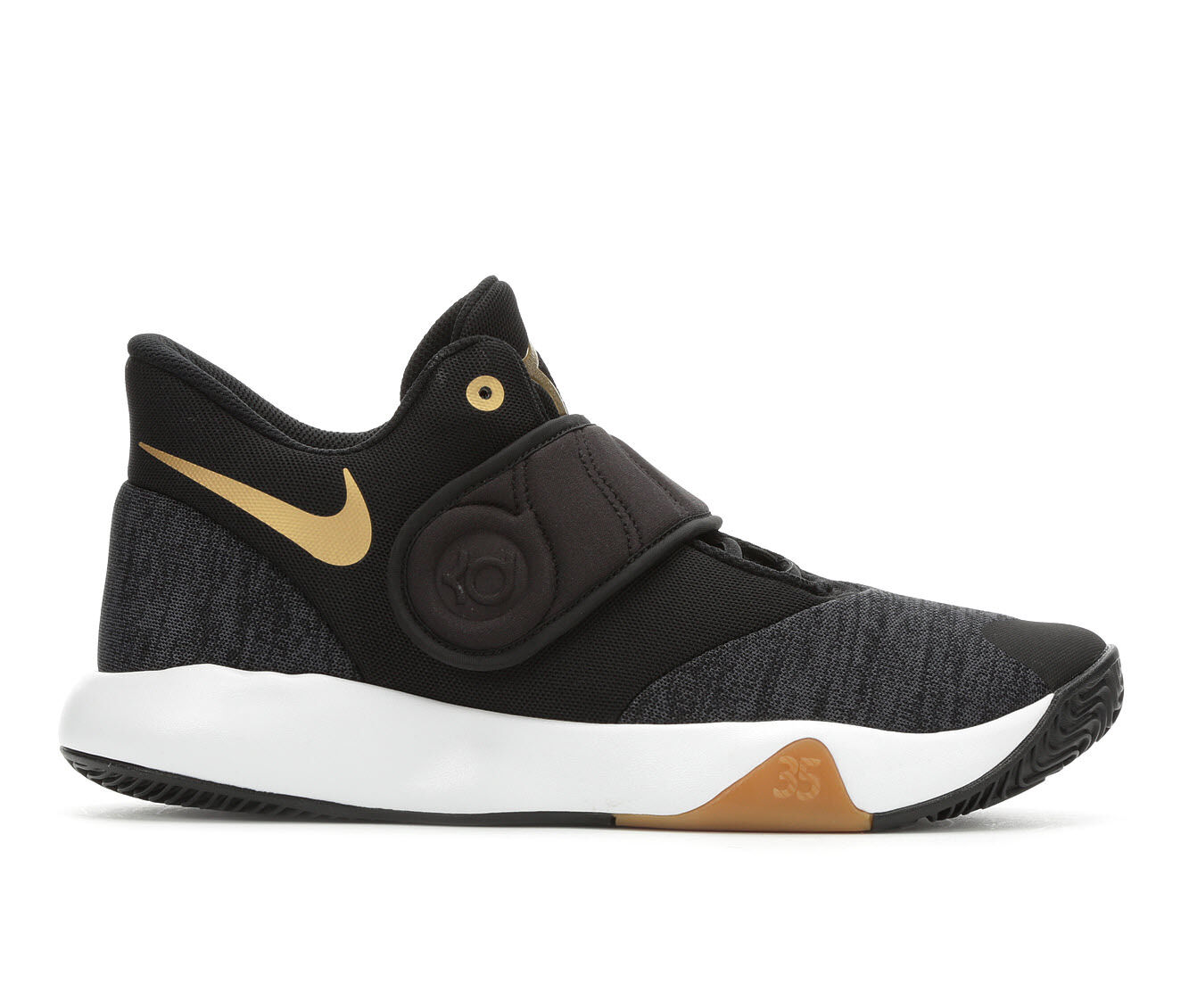 Men's Nike KD Trey 5 VI High Top Basketball Shoes Blk/Gold/Wht
