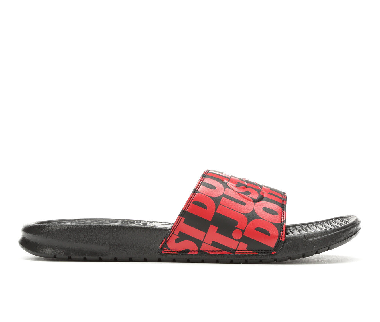Men's Nike Benassi JDI Print Sport Slides Black/Uni Red