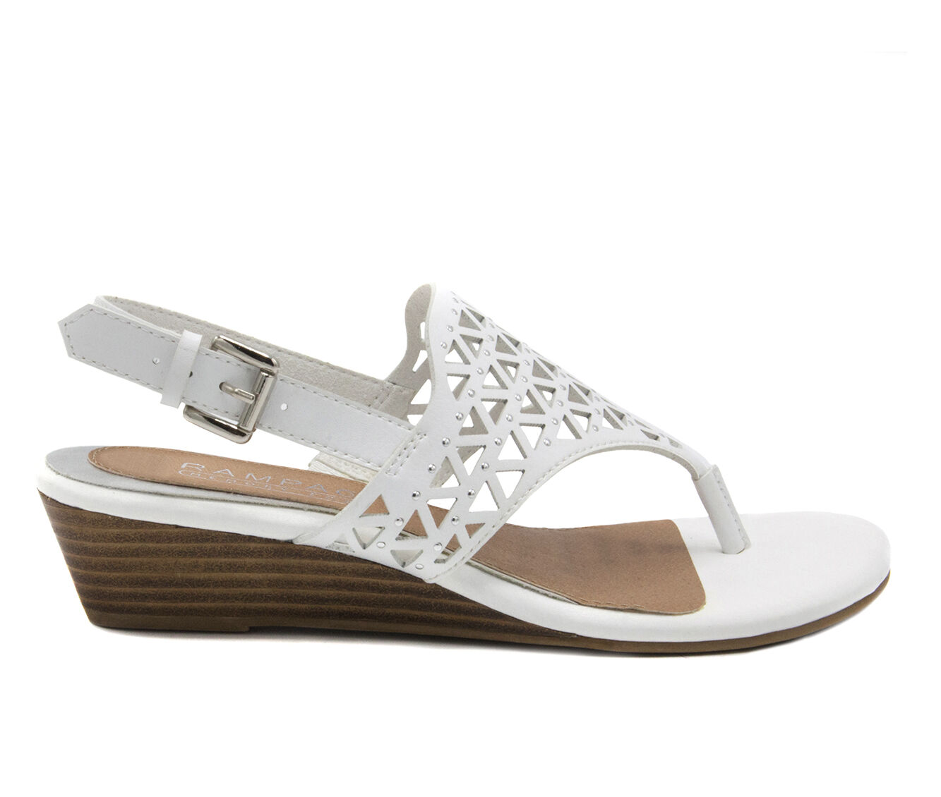Leisure Styles Women's Rampage Sachin White Burnish