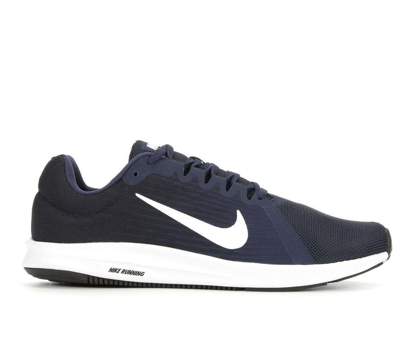 Men's Nike Downshifter 8 Running Shoes Navy/Black/Whit
