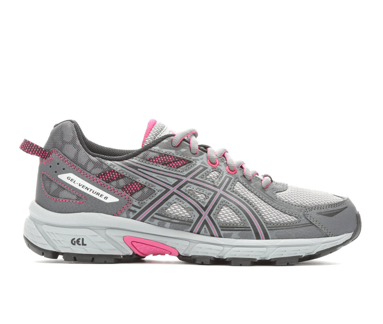 Quality Guarantee Women's ASICS Gel Venture 6 Trail Running Shoes Grey/Black/Pink