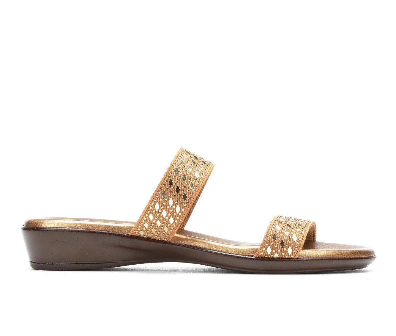 latest style Women's Italian Shoemakers Clay Sandals Bronze