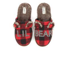 Dearfoams Toddler & Little Kid Lil Bear Scuff Slippers
