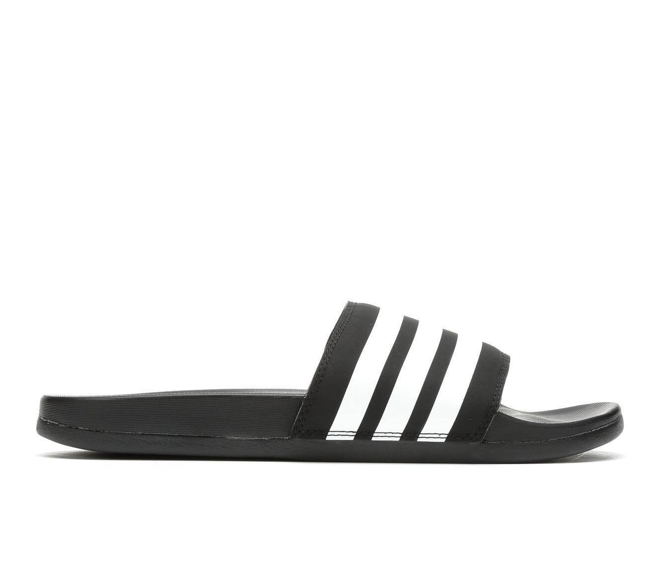 Women's Adidas Adilette CF Stripes Sport Slides Black/White