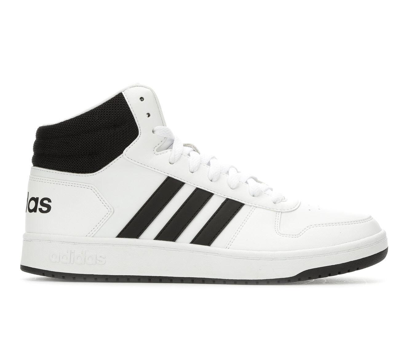 Men's Adidas Hoops 2.0 Mid Retro Sneakers White/Black
