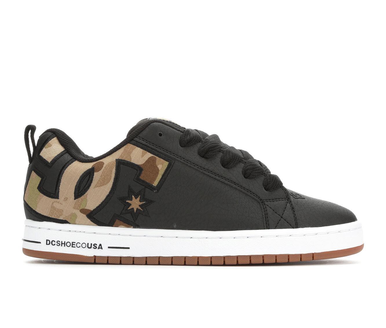 Men's DC Court Graffik SE Skate Shoes Black Camo