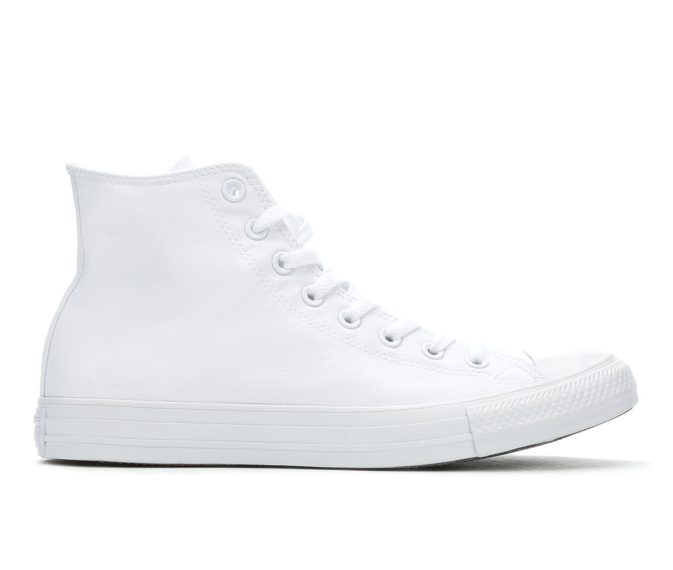 Adults' Converse Chuck Taylor All Star Canvas Hi High Top Sneakers White Mono