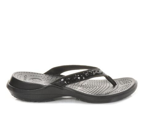 Women's Crocs Capri Sequin Flip