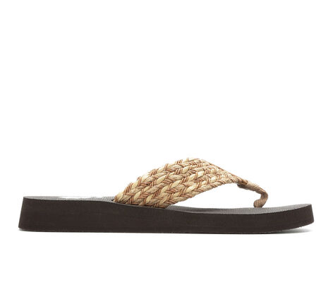 Women's Yellow Box Knit Flip-Flops