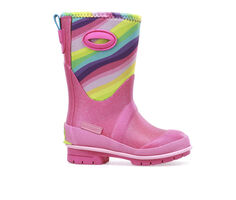 Girls' Western Chief Toddler & Little Kid Glitter Rainbow Rain Boots