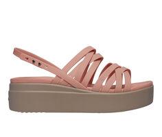 Women's Crocs Brooklyn Strappy Low Wedge Sandals