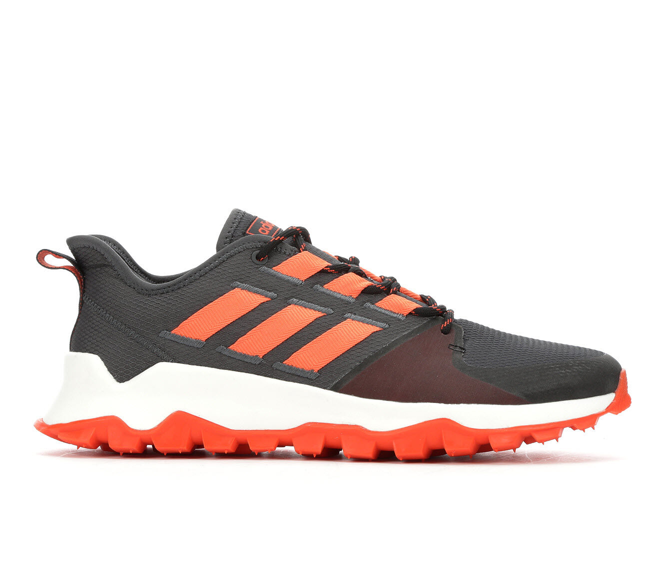 Men's Adidas Kanadia Trail Running Shoes Gry/Org/Wht