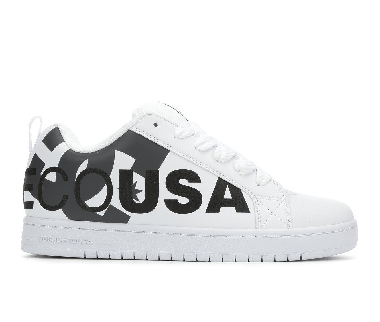 Men's DC Court Graffik SE Skate Shoes Wh/Gy/Bk