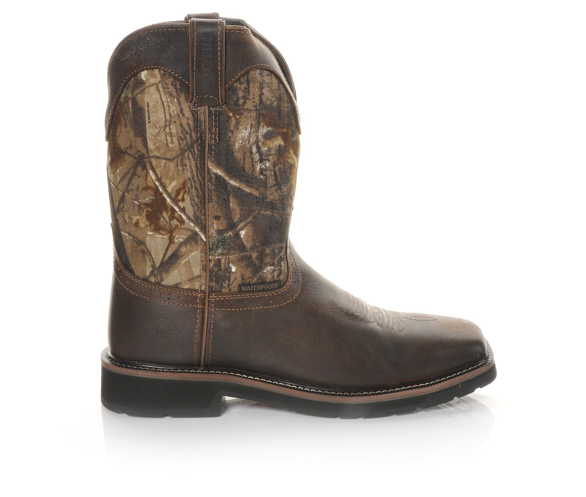 Men's Justin Boots WK4676 Stampede Work Boots Real Tree Camo