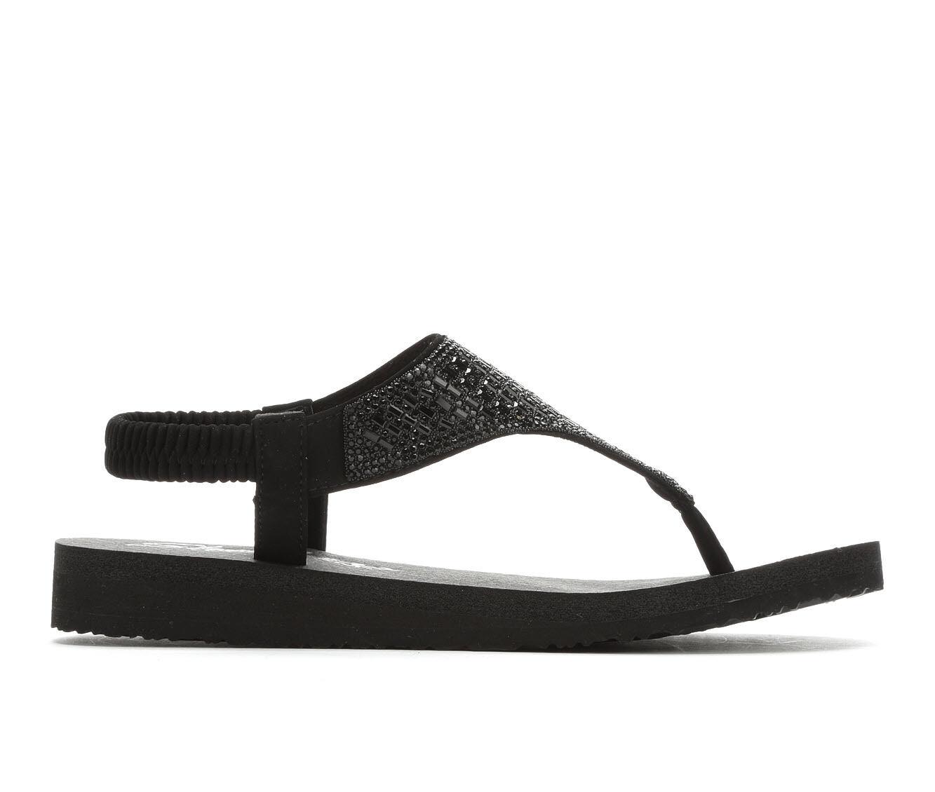 Women's Skechers Cali Meditation Rock Crown Sandals Black