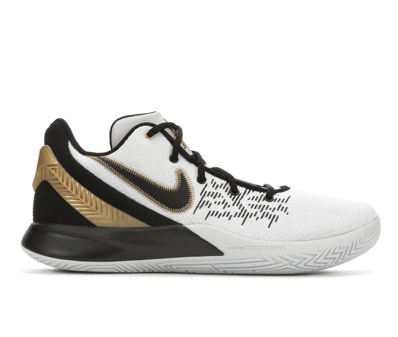 Men's Nike Kyrie Flytrap II Basketball Shoes Wht/Blk/Gld 170
