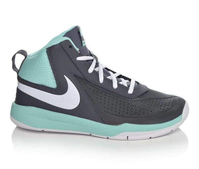 Girls' Nike Team Hustle D7 3.5-7 Basketball Shoes
