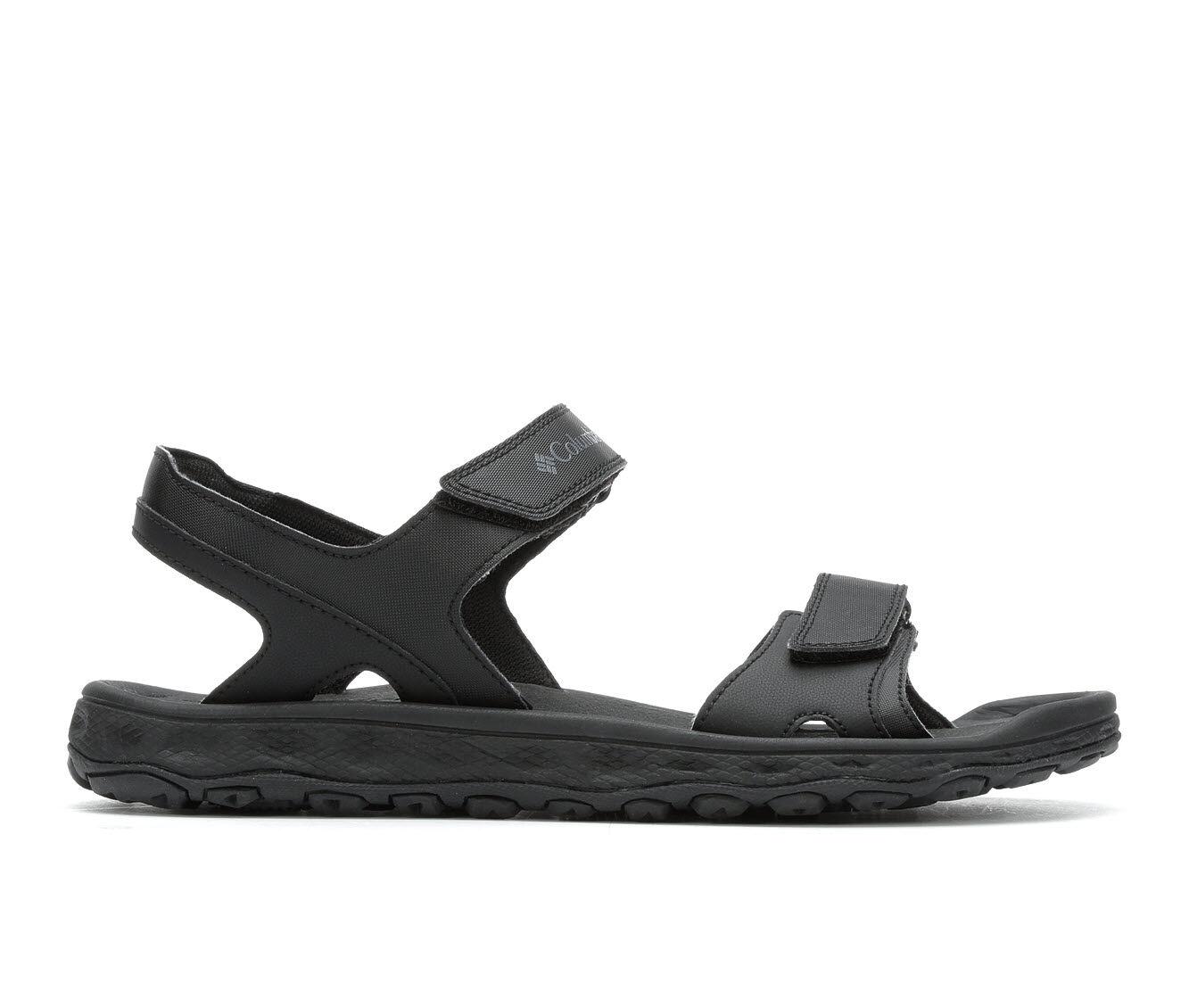 Men's Columbia Buxton 2 Strap Outdoor Sandals Black/Charcoal