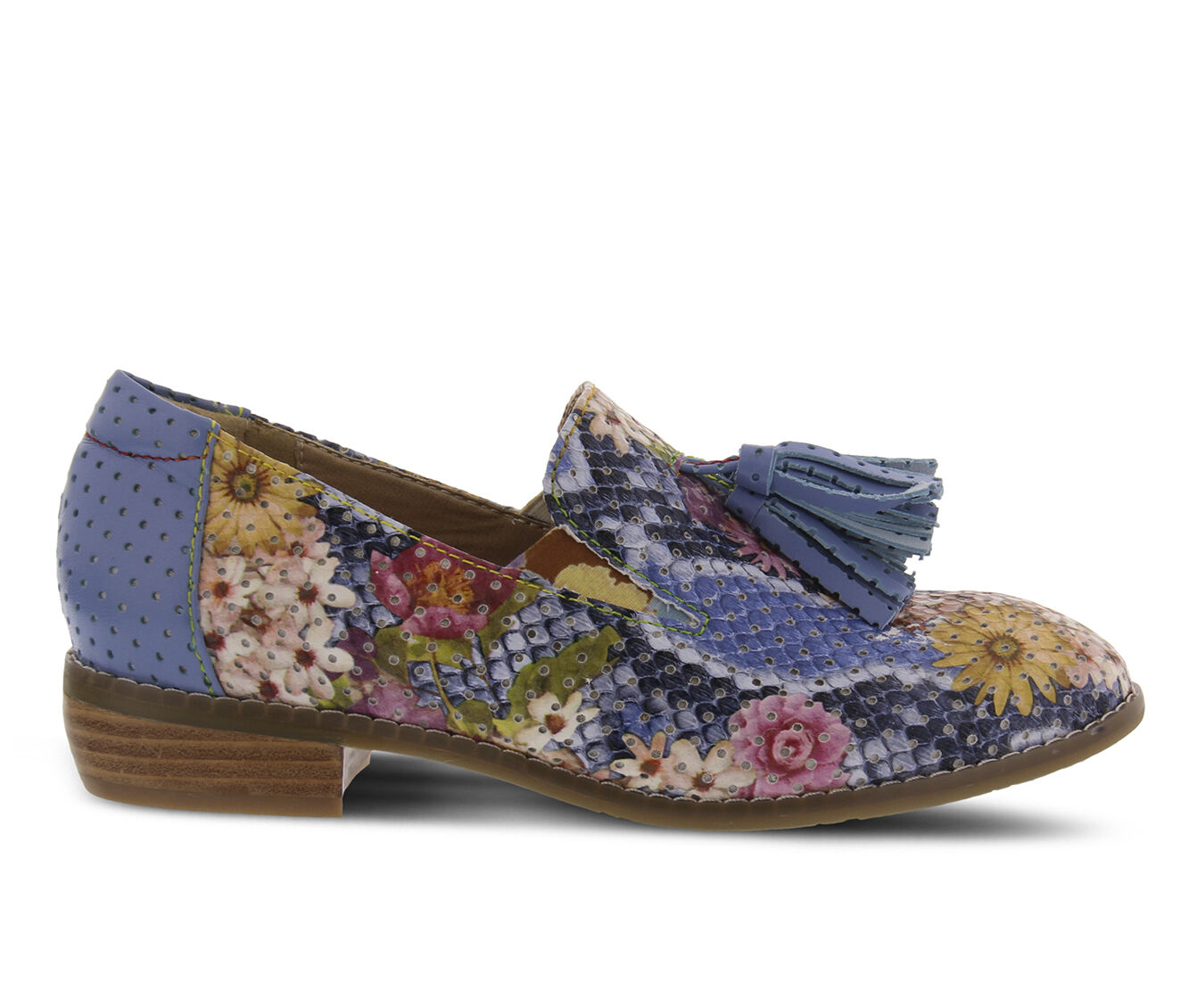 Women's L'ARTISTE Klasik-Flower Shoes Blue Multi
