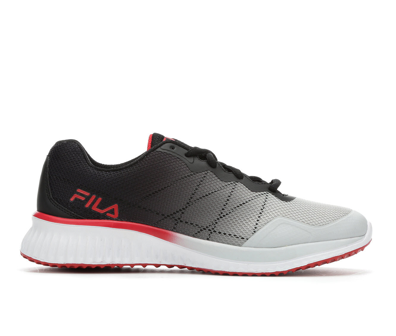choose authentic Men's Fila Memory GeoSonic Running Shoes Gry/Blk/Red