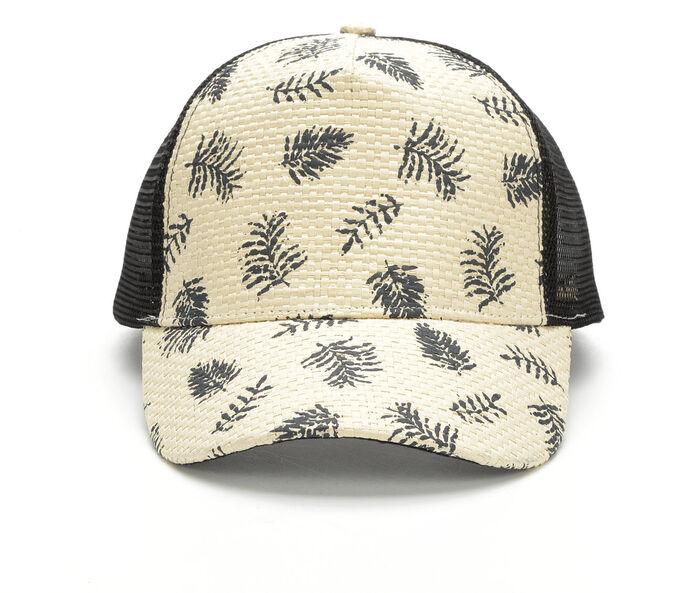 Rampage Printed Straw Trucker Hat