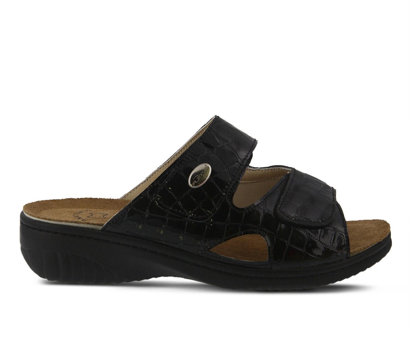 Women's FLEXUS Almeria Sandals Black Pat
