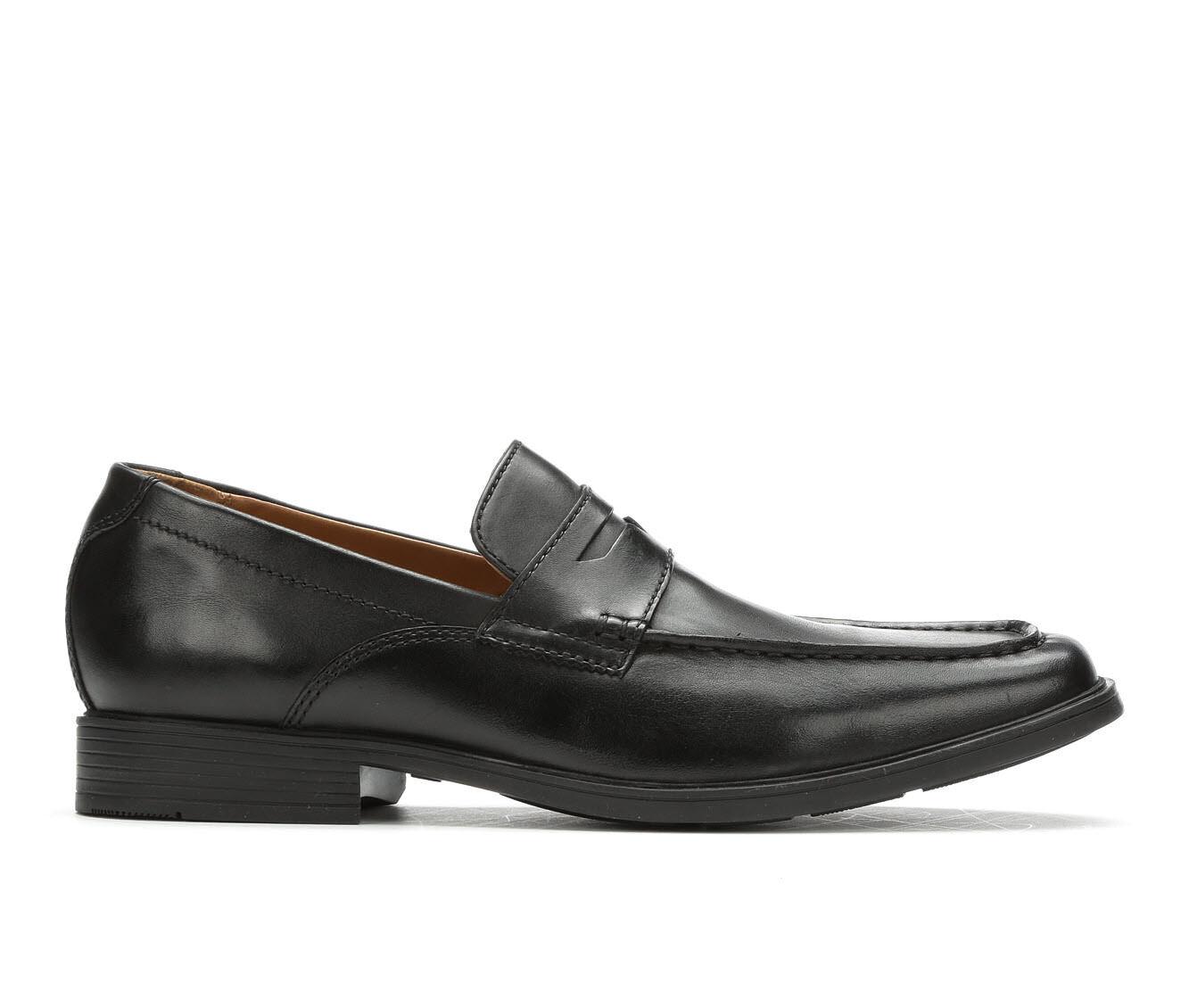 Men's Clarks Tilden Way Slip On Penny Loafers Black