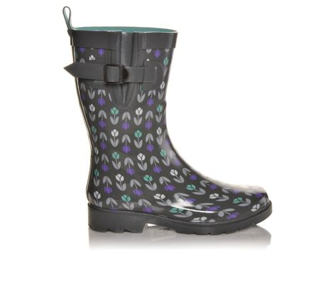 Women's Capelli New York Tulip Stripes Mid Shaft Rain Boots