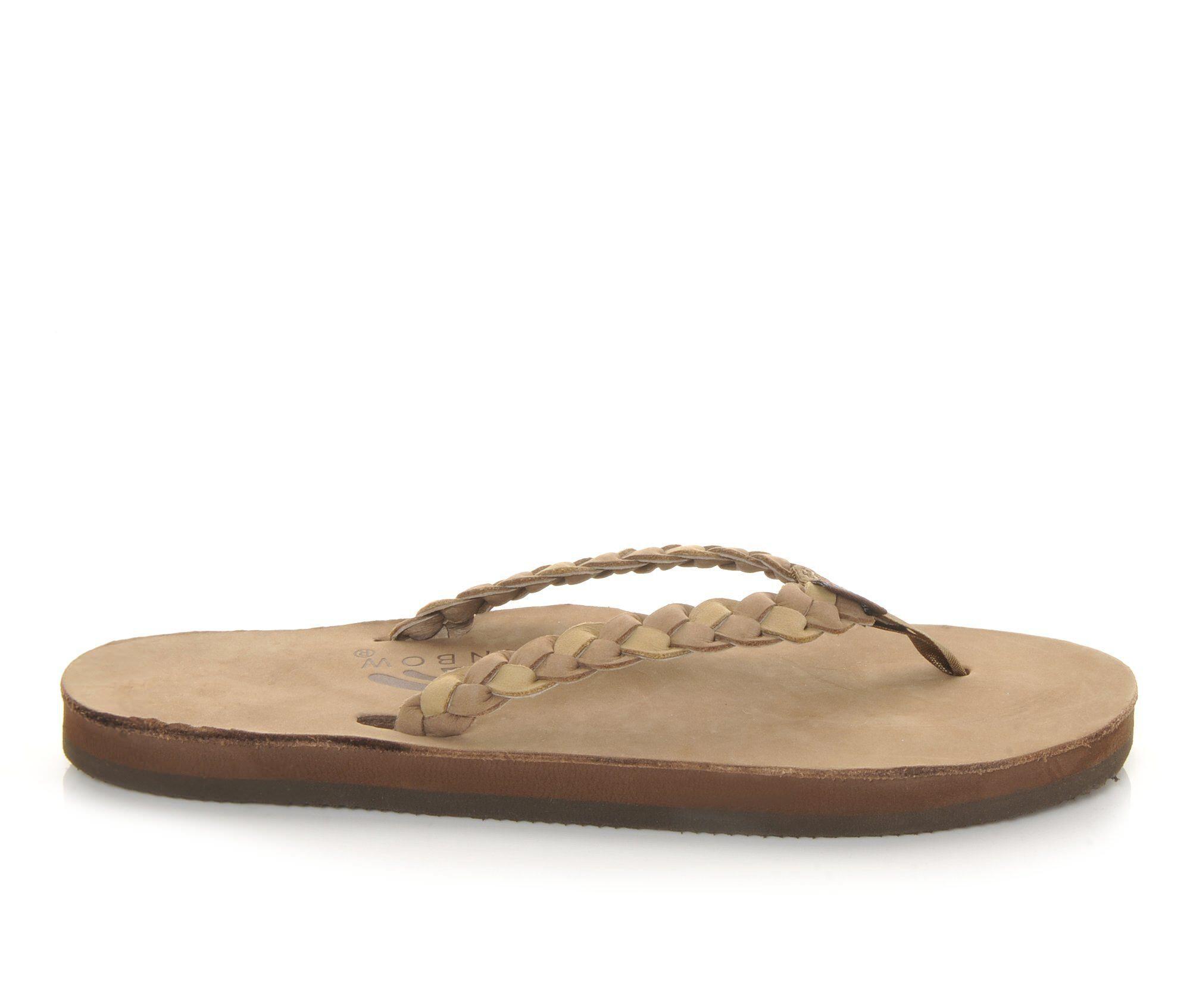 Women's Rainbow Sandals Twisted Sister Flip-Flops Dark Brown